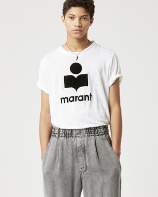 ISABEL MARANT T-SHIRT Uomo KARMAN T-shirt in lino r