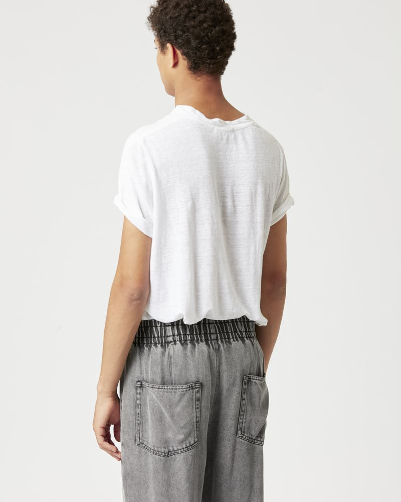 KARMAN T-shirt in lino ISABEL MARANT