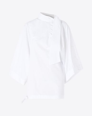 MAISON MARGIELA Top D Cotton tie blouse f