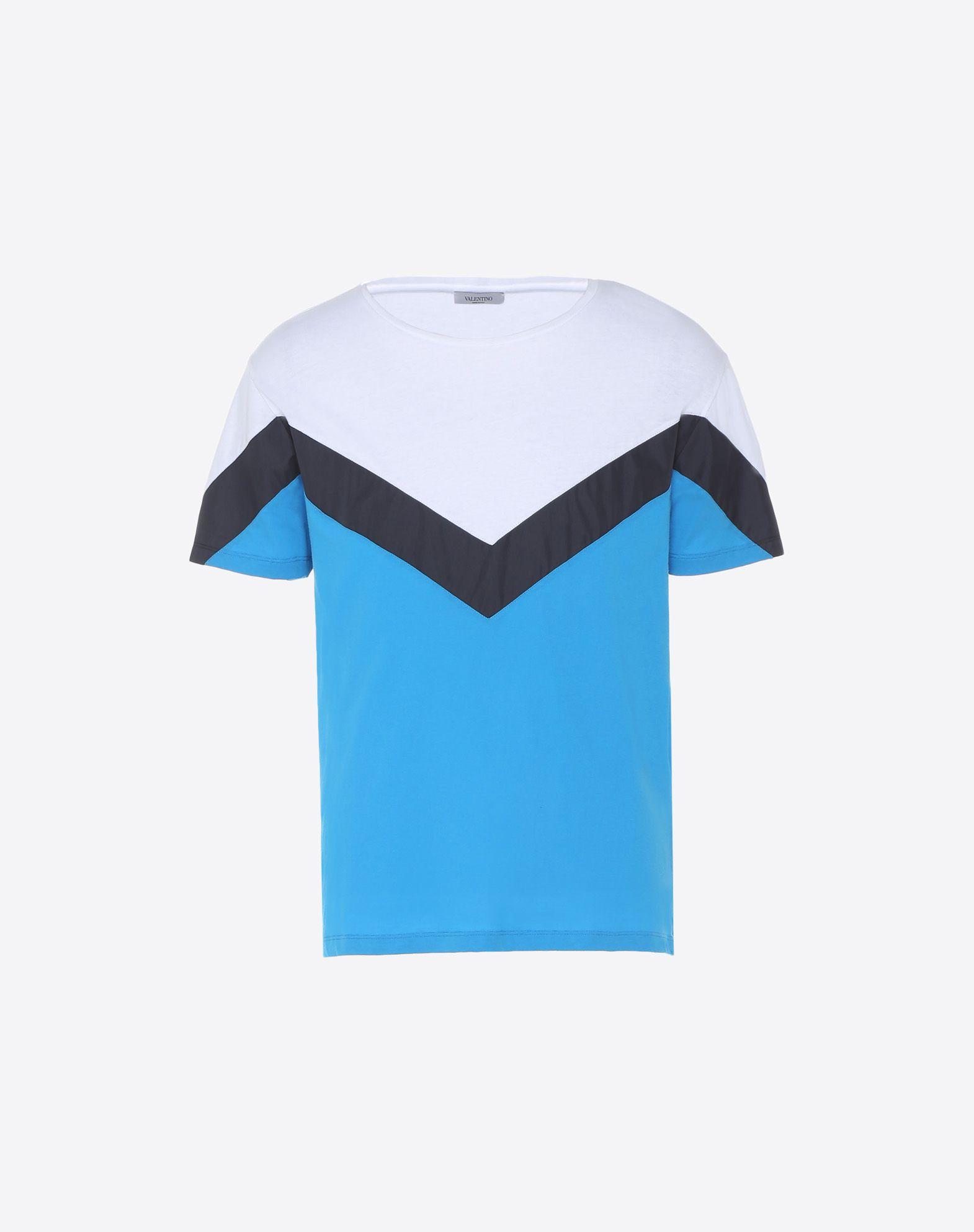 VALENTINO Punto jersey Cuello redondo Bajo con aberturas laterales Manga corta  12148143nt