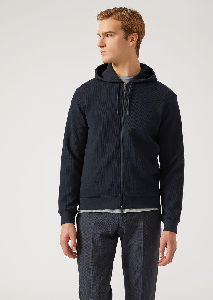 59d690e4fc Embossed sweatshirt with logo | Man | Emporio Armani