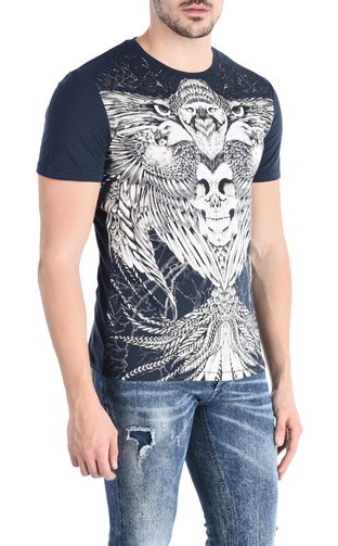 JUST CAVALLI Short sleeve t-shirt U Short-sleeved Jacquard T-shirt f