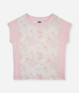 KARL LAGERFELD PINK BRUSH TEE