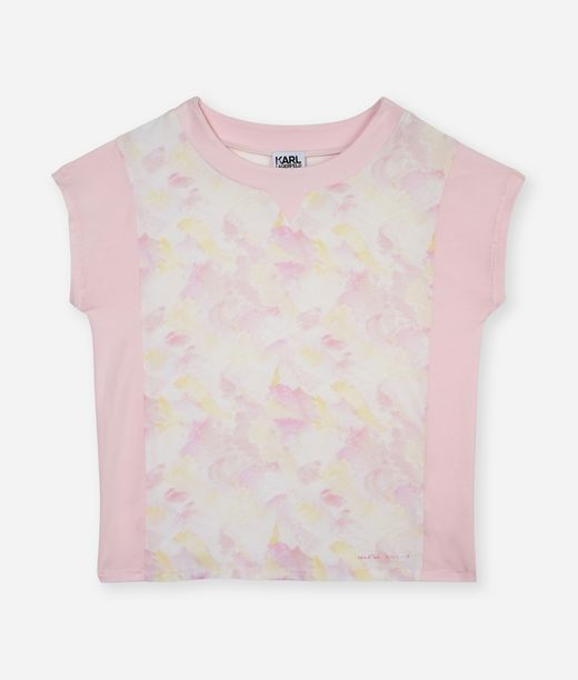 KARL LAGERFELD Pink brush tee 12_f