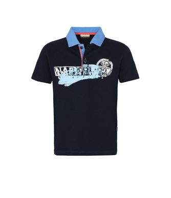 NAPAPIJRI K ENI KID KID SHORT SLEEVE POLO,DARK BLUE