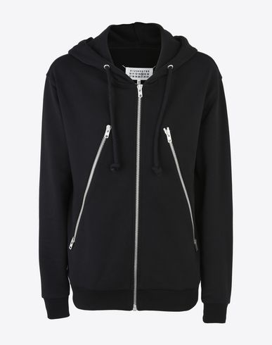 MAISON MARGIELA Sweatshirt U Zip-detail cotton hoodie f