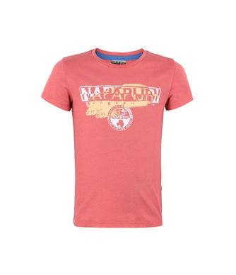 NAPAPIJRI K SHADOW JUNIOR KID SHORT SLEEVE T-SHIRT,CORAL
