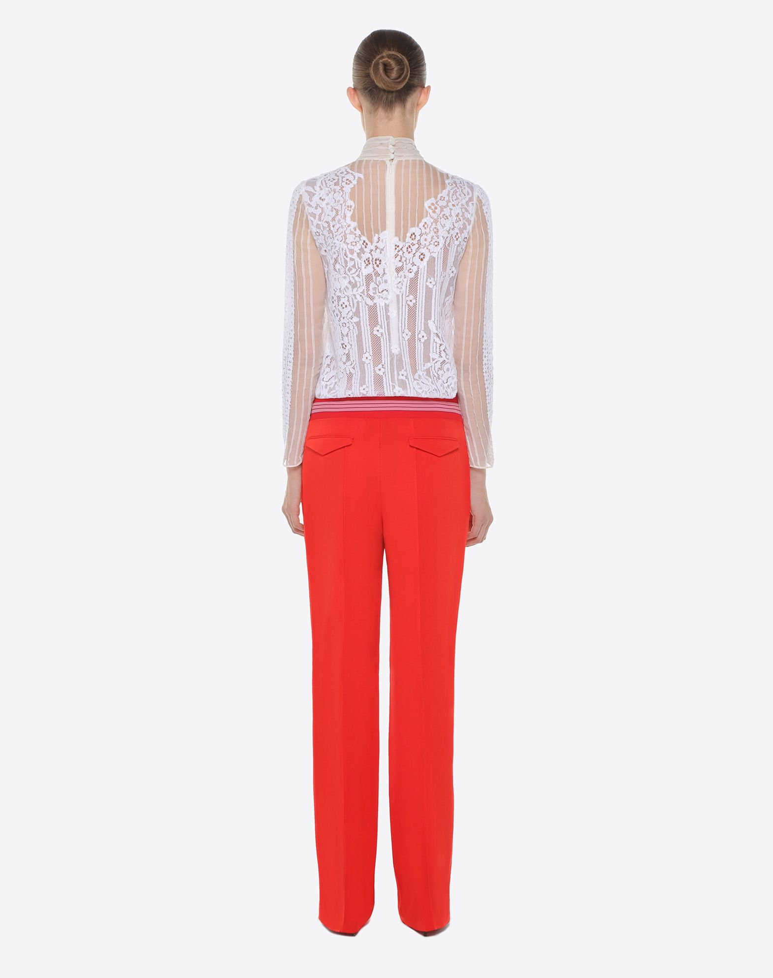 VALENTINO Chiffon and lace top TOP D e