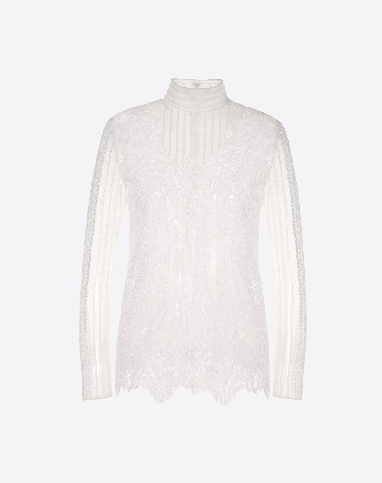VALENTINO Chiffon and lace top TOP D f