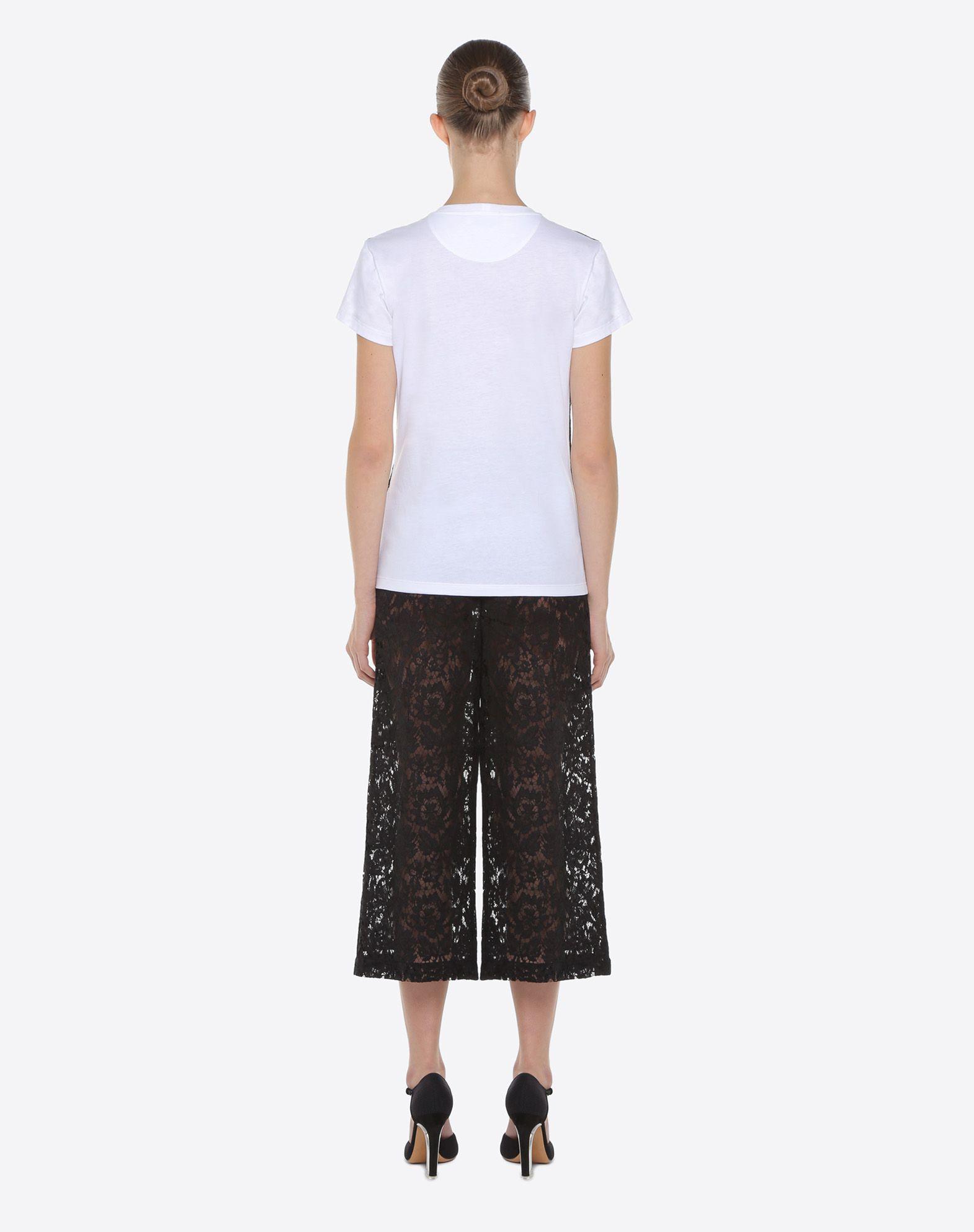VALENTINO 重磅蕾丝 T 恤 T 恤 D e