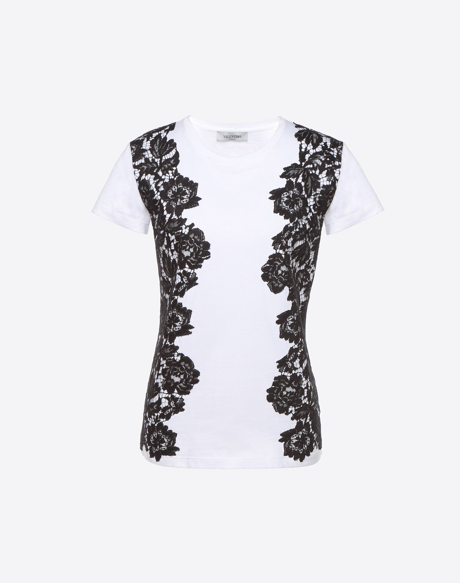 VALENTINO 重磅蕾丝 T 恤 T 恤 D f