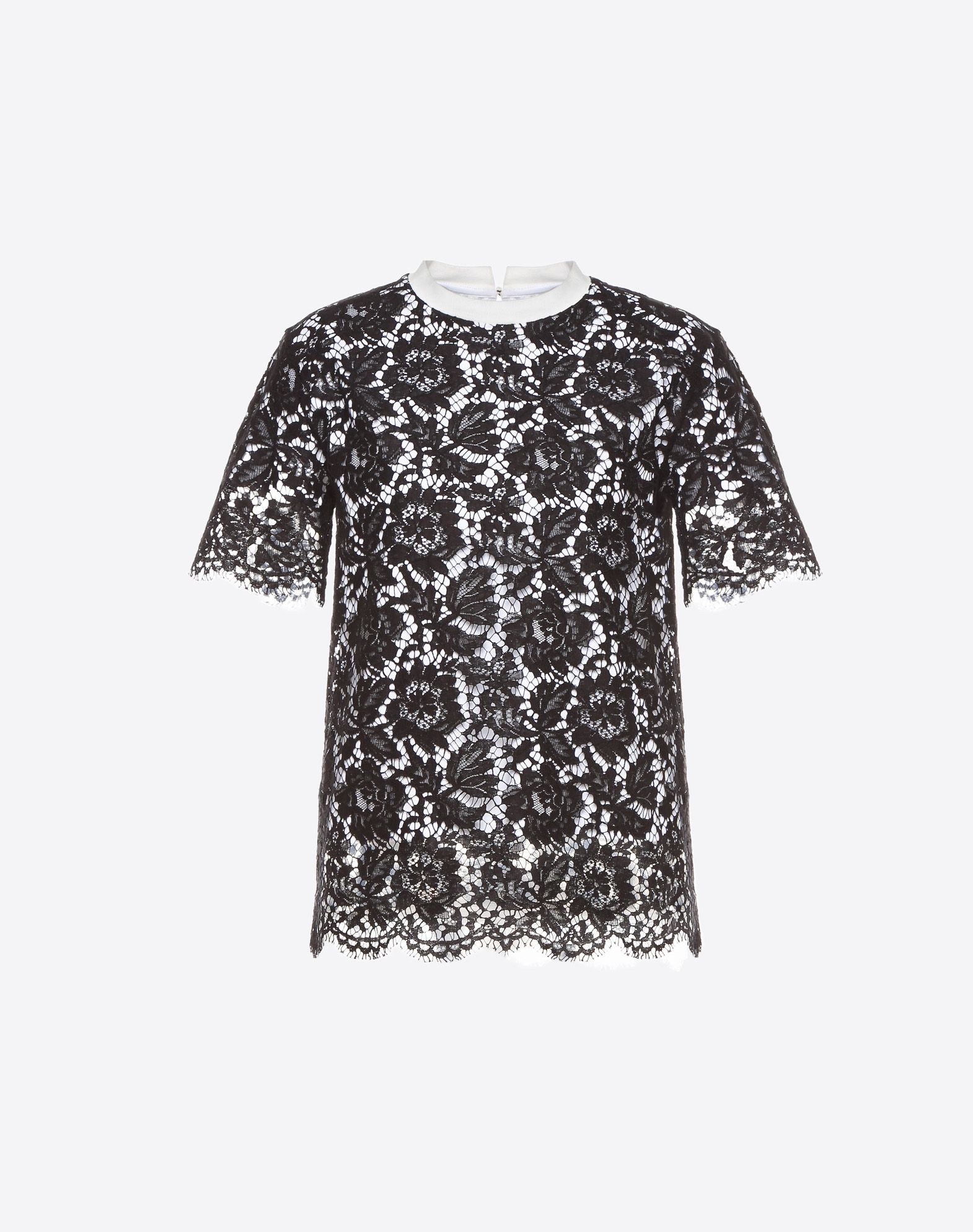 VALENTINO Heavy lace T-shirt T-shirt D f