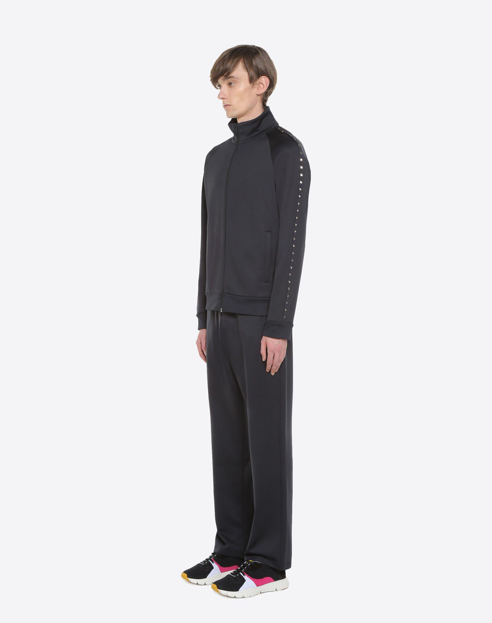 VALENTINO Rockstud Untitled zipped sweatshirt Sweatshirt U d