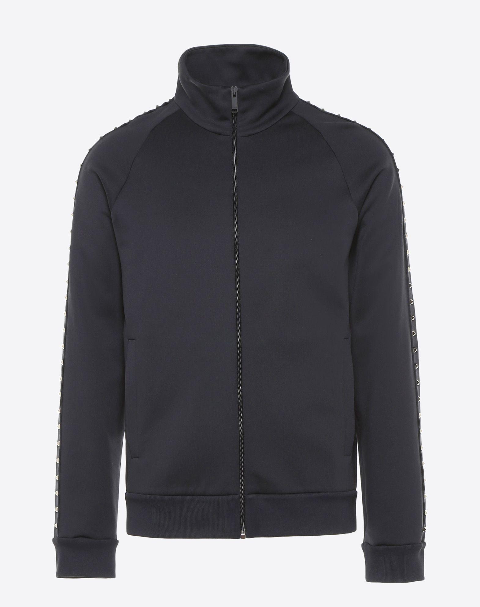 VALENTINO Rockstud Untitled zipped sweatshirt Sweatshirt U f