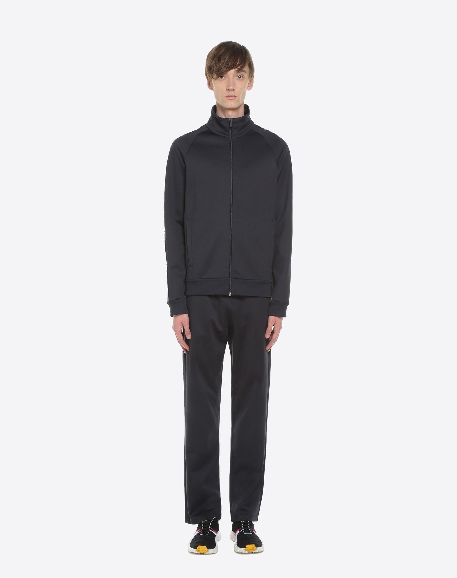 VALENTINO Rockstud Untitled zipped sweatshirt Sweatshirt U r