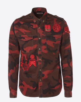 VALENTINO Shirt U Camouflage-print poplin shirt  f