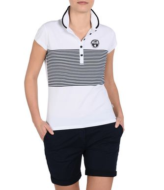 NAPAPIJRI ERAE WOMAN SHORT SLEEVE POLO,WHITE