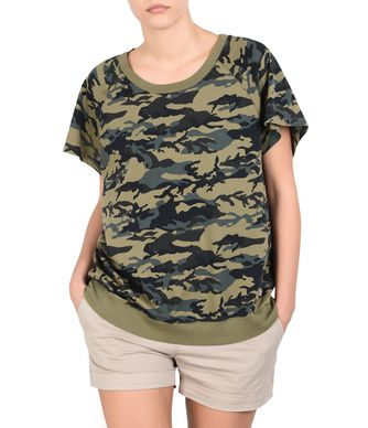NAPAPIJRI SIVAS WOMAN SHORT SLEEVE T-SHIRT,MILITARY GREEN
