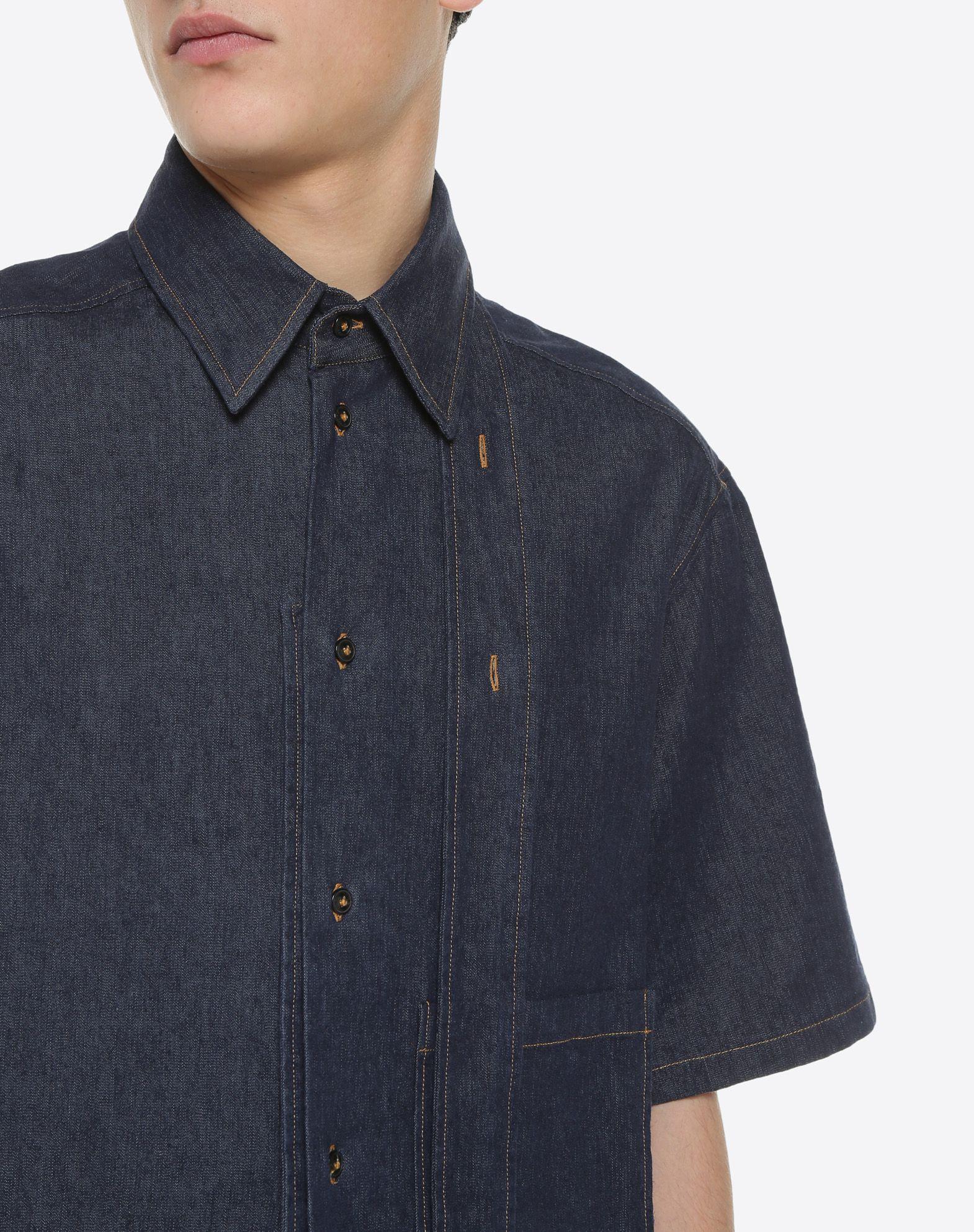 VALENTINO UOMO Short-sleeve couture denim shirt Shirt & blouse U a