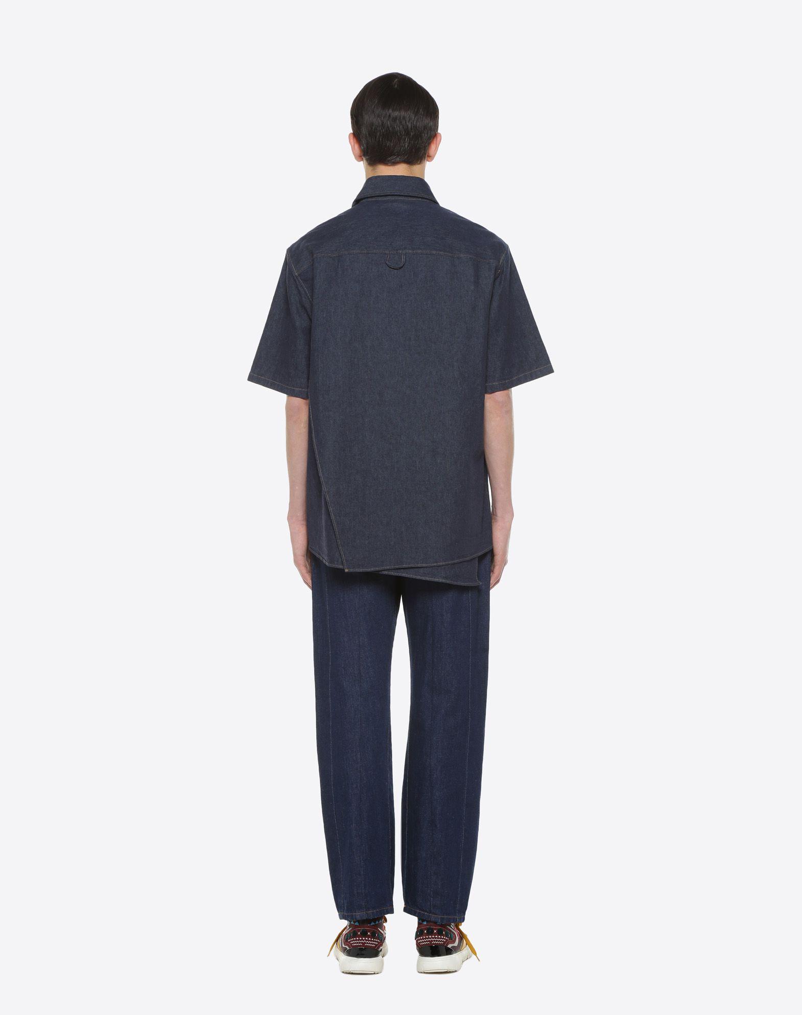 VALENTINO UOMO Short-sleeve couture denim shirt Shirt & blouse U e
