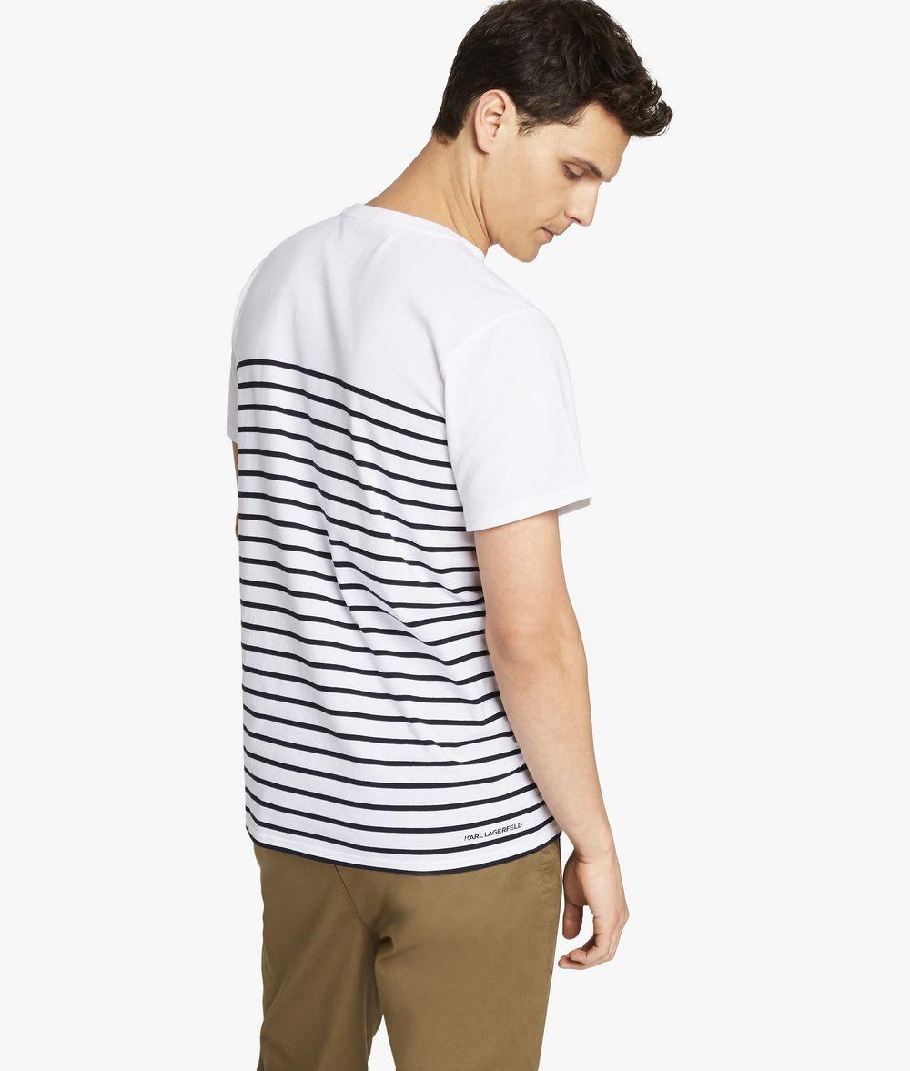 KARL LAGERFELD Karl ikonik stripe T-shirt Man d