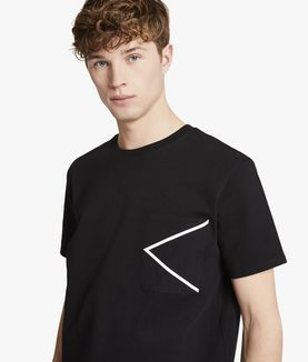 KARL LAGERFELD K POCKET FABRIC MIX TEE