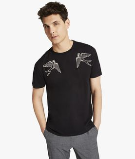 KARL LAGERFELD SAILOR BIRD POPLIN MIX TEE