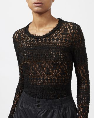ISABEL MARANT TOP Woman YULIA stretch lace top  r