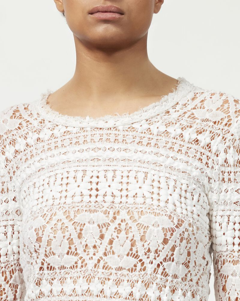 YULIA stretch lace top ISABEL MARANT