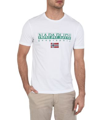 NAPAPIJRI SGREEN MAN SHORT SLEEVE T-SHIRT,WHITE