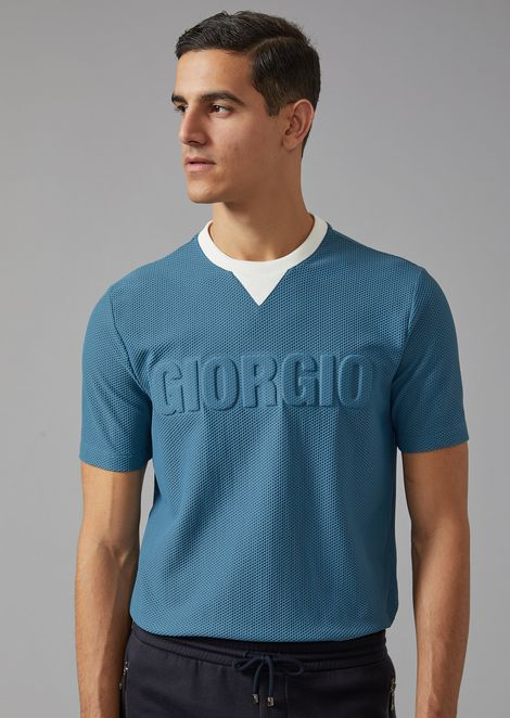 Perforated Jersey T-shirt with Logo