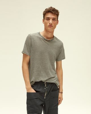 ISABEL MARANT T-SHIRT Man LEON striped T-shirt r