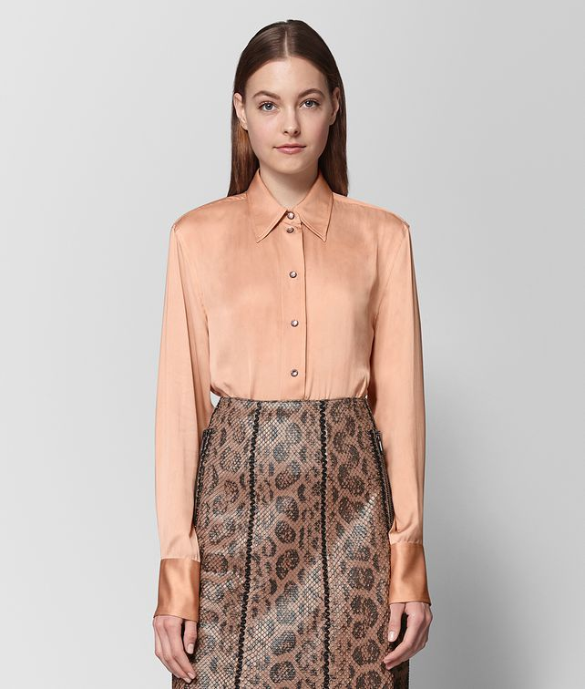 BOTTEGA VENETA PEACH ROSE SILK SHIRT Knitwear or Top or Shirt [*** pickupInStoreShipping_info ***] fp
