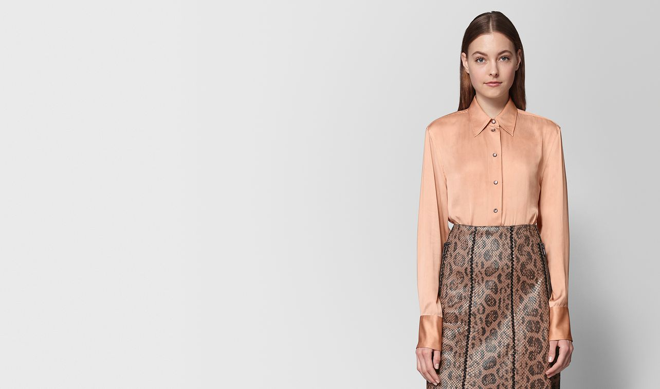 peach rose silk shirt landing