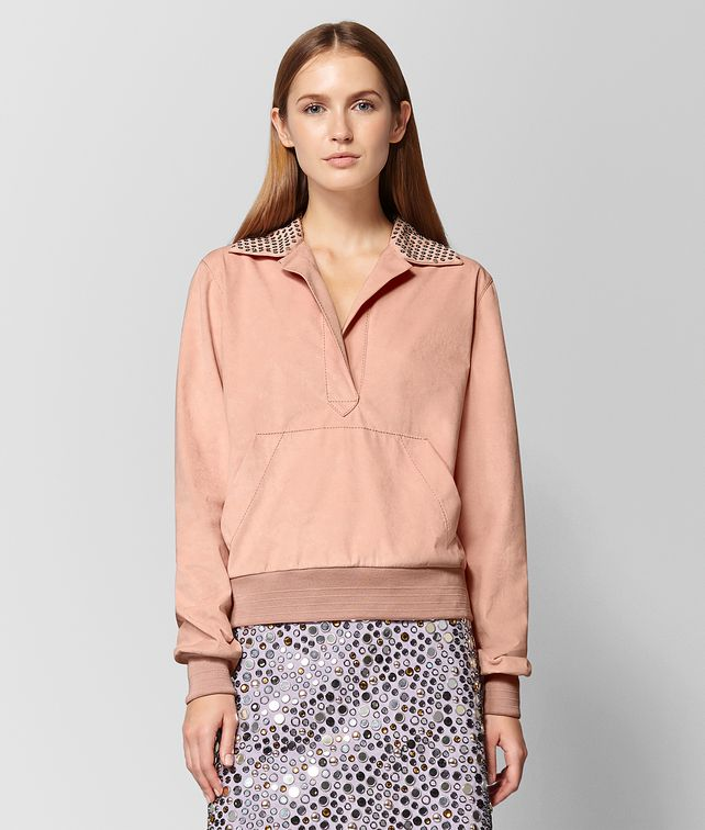 BOTTEGA VENETA PEACH ROSE ALCANTARA PULLOVER Knitwear or Top or Shirt Woman fp
