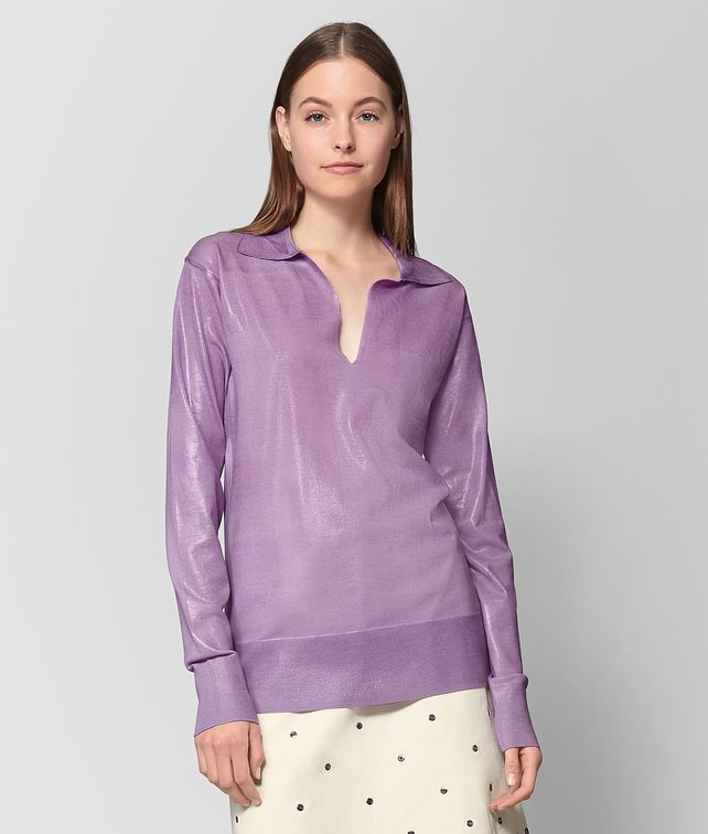 BOTTEGA VENETA LILAC WOOL SWEATER Knitwear or Top or Shirt Woman fp