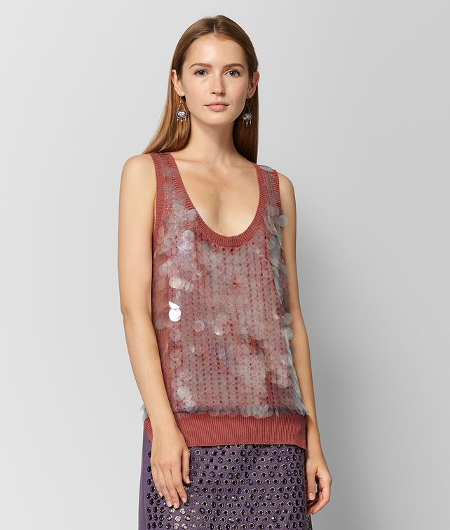 BOTTEGA VENETA HIBISCUS SILK TOP Knitwear or Top or Shirt Woman fp