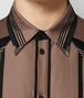 camel nero cotton shirt Front Detail Portrait