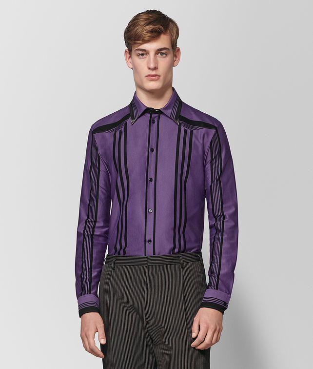 BOTTEGA VENETA DARK LILAC NERO COTTON SHIRT Shirt Man fp