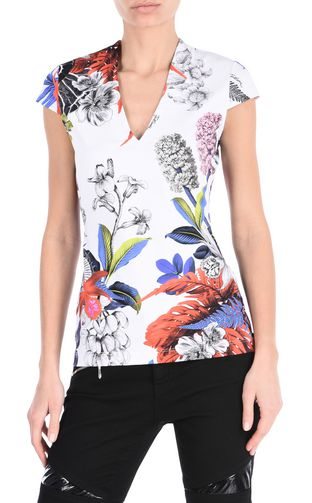 JUST CAVALLI Top D New World print vest f