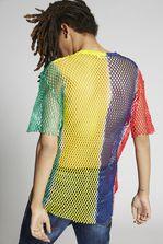 DSQUARED2 Cotton Mesh Mix Colours T-Shirt Short sleeve t-shirt Man
