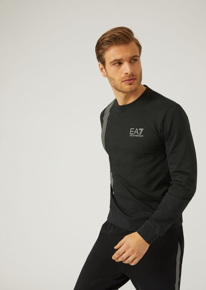 693ead7e Sweatshirt in seven stripe jersey | Man | Ea7