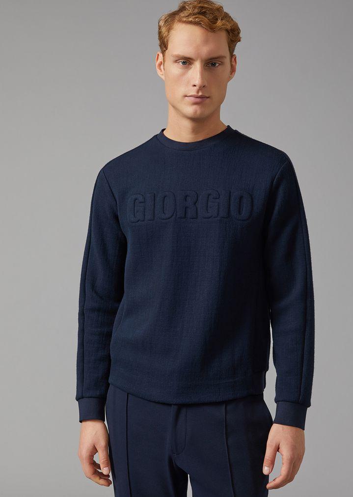 4ac15556d42f Sweatshirt in double jersey with logo   Man   Giorgio Armani