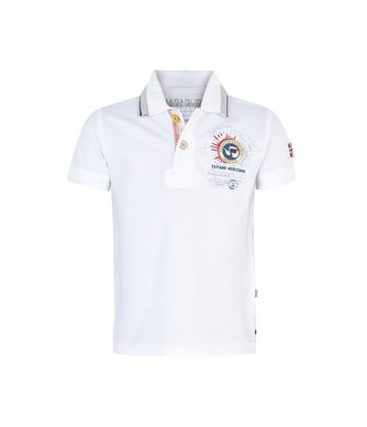 NAPAPIJRI K GANDY JUNIOR KINDER POLOSHIRT,HELLWEISS