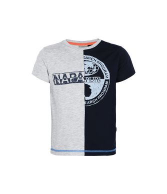 NAPAPIJRI K SIX JUNIOR KINDER KURZÄRMLIGES T-SHIRT,DUNKELBLAU
