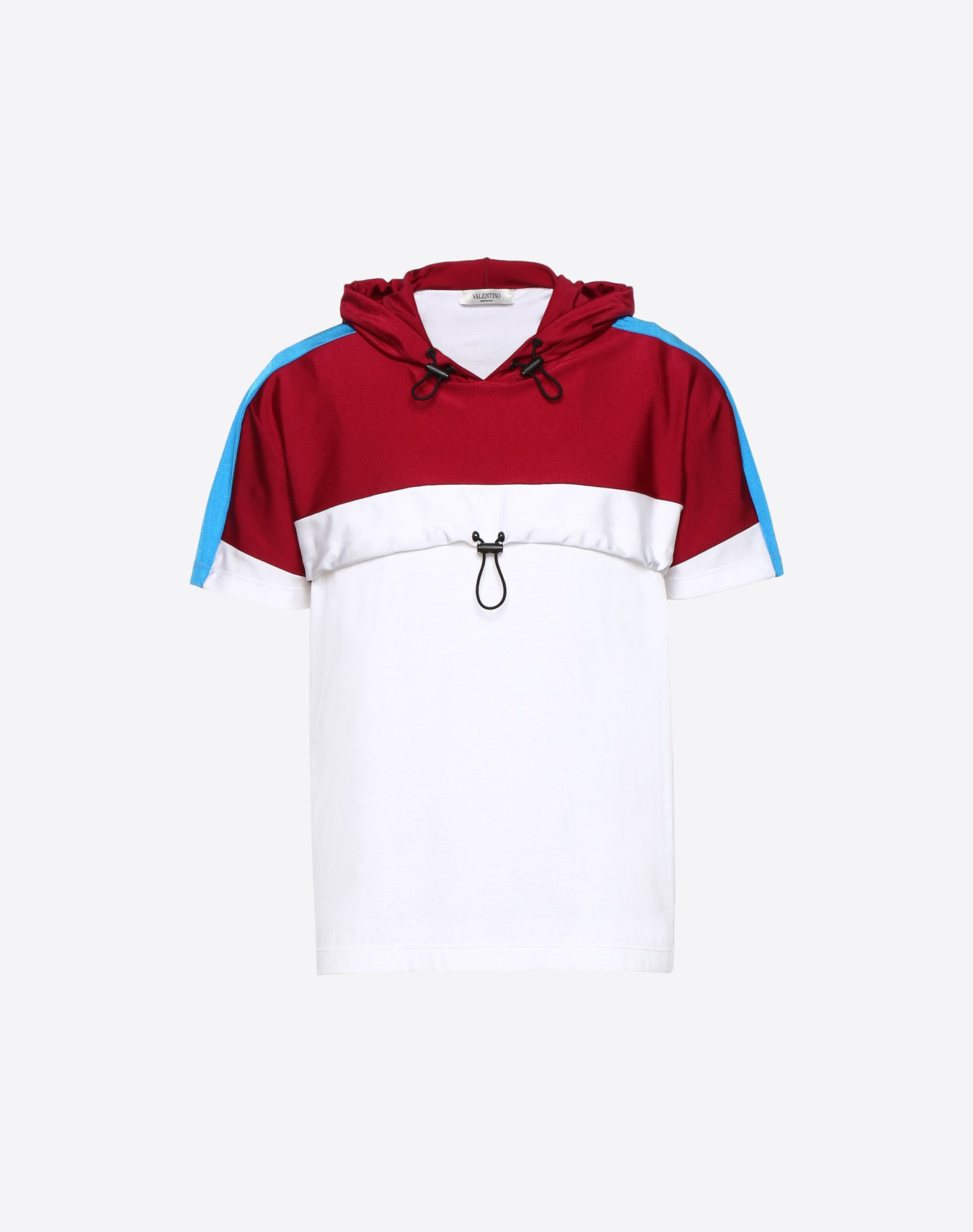 VALENTINO Round collar Synthetic jersey Jersey Drawstring closure  12155097fx