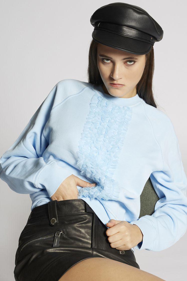 DSQUARED2 Ruffled Cotton Sweatshirt Sweatshirt Woman