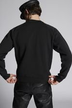 DSQUARED2 Ruffled Cotton Sweatshirt Sweatshirt Man