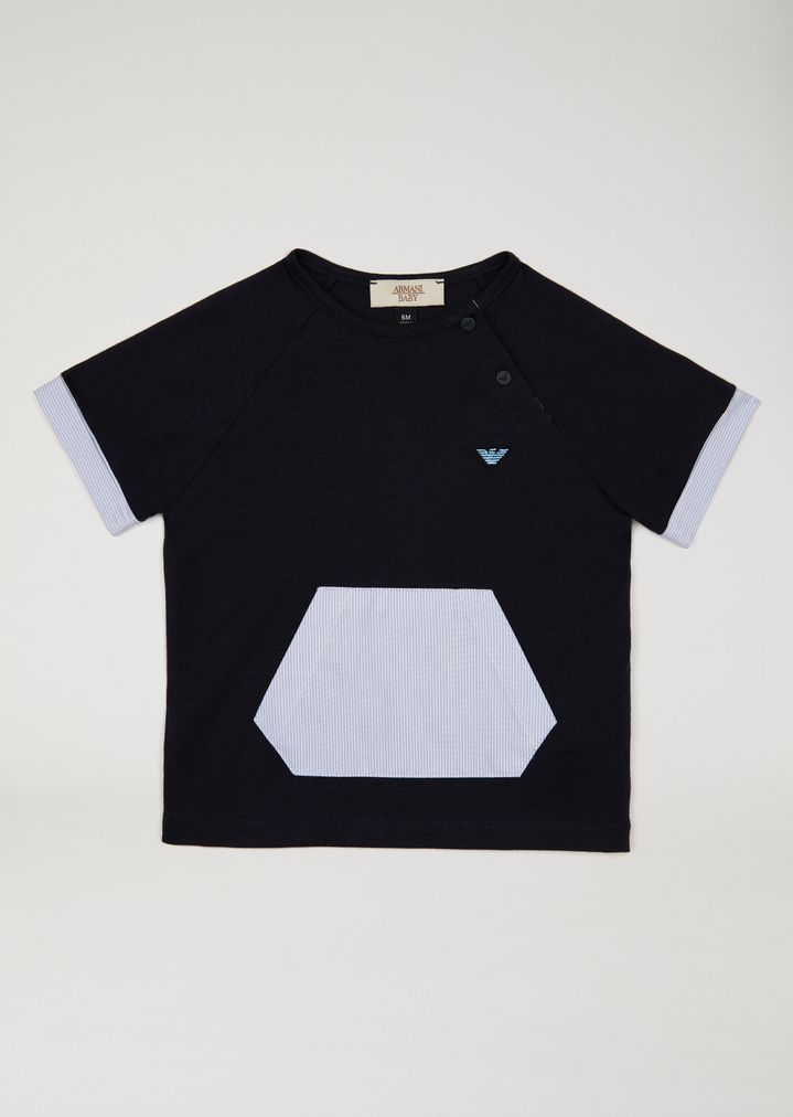 EMPORIO ARMANI T-shirt with decorative pocket T-Shirt Man f 4cd843758