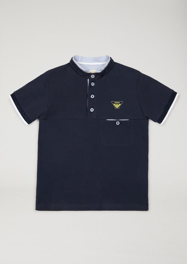 9afd8b233f Polo shirt with mandarin collar